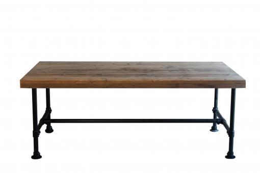 Esstisch aus Gerüstholz